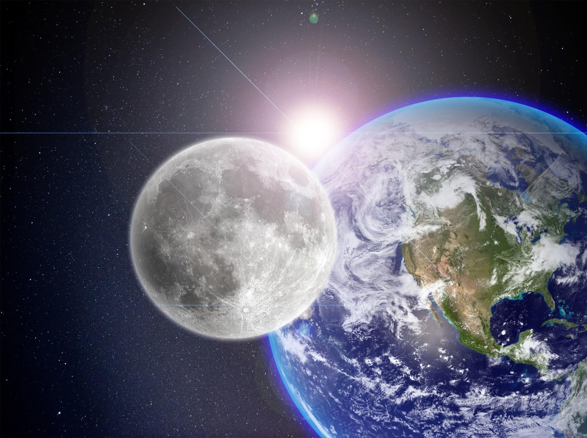 sun earth moon.